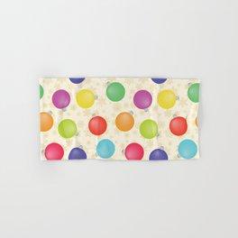 Colorful Christmas balls,Gold Snowflakes SB8 Hand & Bath Towel
