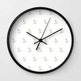 Classic Owl - White Wall Clock