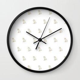 Classic Owl - White Wall Clock