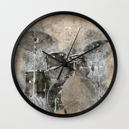 Sounds of music. Installing the Drum. Wall Clock