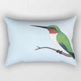 the studious male (ruby-throated hummingbird) Rectangular Pillow