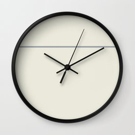 One Stripe Sand and Grey Wall Clock