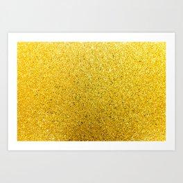 Sunshine Glittery Golden Sparkle Art Print