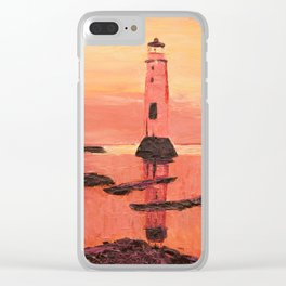 New Brighton Lighthouse Clear iPhone Case