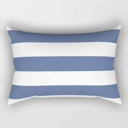 UCLA blue - solid color - white stripes pattern Rectangular Pillow