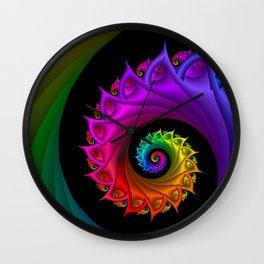 life is colorful -3- Wall Clock