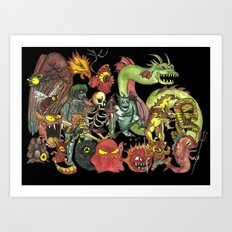Imaginary Friends: Nintendo Monsters Art Print