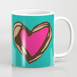Heartley - teal/pink Coffee Mug