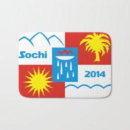 Sochi 2014 flag - Authentic version Bath Mat