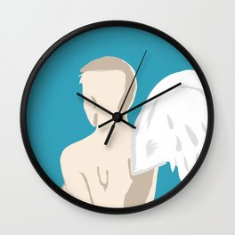 One Winged Angel/ Abstract Concept Drawing Wall Clock