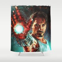 alicexz Shower Curtains featuring Light 'Em Up by Alice X. Zhang