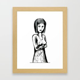 Neutral Exasperation Framed Art Print
