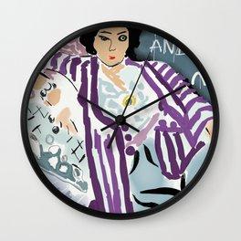 Keep calm and love Matisse Wall Clock