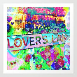 Psychedelic Lovers Lane  Art Print