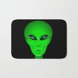 Green Alien Head Bath Mat