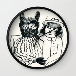 monster & me Wall Clock