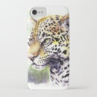 jaguar iPhone & iPod Cases featuring Jaguar by Juan Pablo Cortes