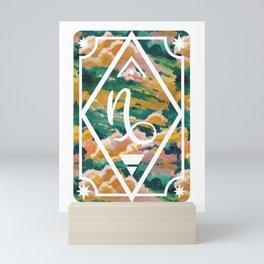 Capricorn Zodiac Sign Mini Art Print