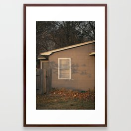Sunrise, December in Austin 2010 Framed Art Print