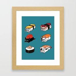 Sushi Frenchie Framed Art Print