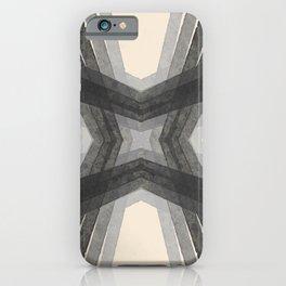 Modern Lines Grays iPhone Case