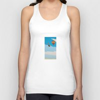 hot air balloons Tank Tops featuring Four Hot Air Balloons by Shelley Chandelier
