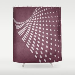 Halftone Flowing Swerve in Mulberry Shower Curtain