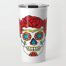 Rose Calavera Travel Mug