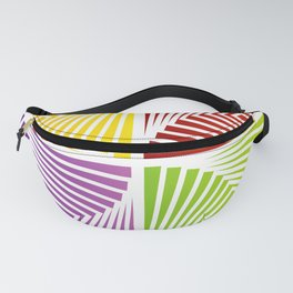 Colorful Squares twirling from the Center. Optical Illusion of PerspectiveColorful Squares twirling Fanny Pack