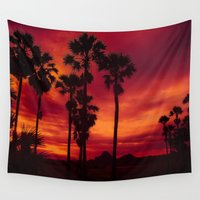 thailand Wall Tapestries featuring Sunrise in Thailand by Aloke Photography