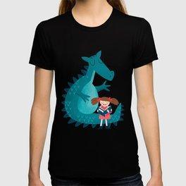 Dragon and girl T-shirt