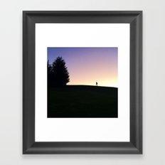 Silhouette 2 Framed Art Print