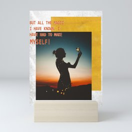 Silhouette of a Girl Mini Art Print