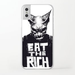Eat The Rich Clear iPhone Case