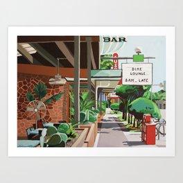 Cactus Cafe Art Print