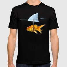 gold fish Black MEDIUM Mens Fitted Tee