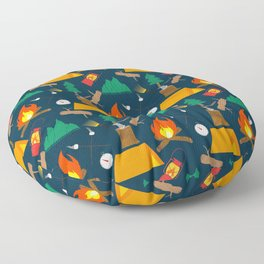 Let's Explore The Great Outdoors - Dark Blue Floor Pillow