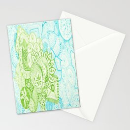 Blue Green Tangle Stationery Cards