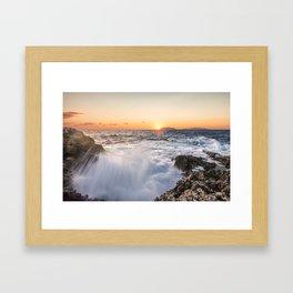 Breathtaking sunset Framed Art Print