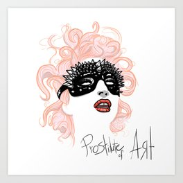 Prostitute of Art Art Print