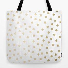 Stylish Gold Polka Dots Tote Bag