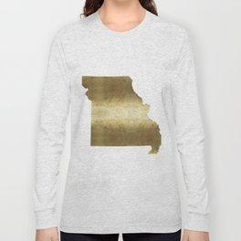 missouri gold foil state map Long Sleeve T-shirt