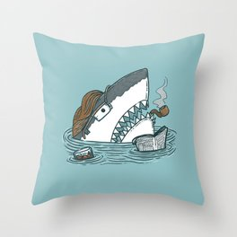 The Dad Shark Throw Pillow