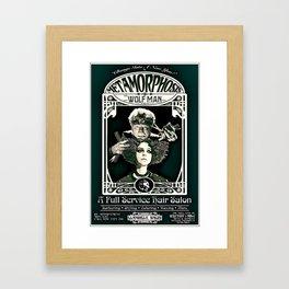 Metamorphosis by The Wolf Man: A Full Service Hair Salon (Vintage) Framed Art Print