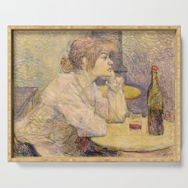 """Henri de Toulouse-Lautrec """"The Hangover (Suzanne Valadon)"""" Serving Tray"""