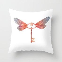 Flying Key Throw Pillow