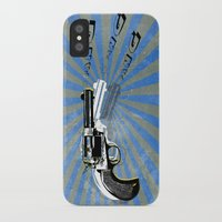 guns iPhone & iPod Cases featuring guns by mark ashkenazi