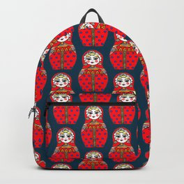Russian doll pattern Backpack