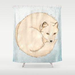 Isatis (Artic Fox) Shower Curtain