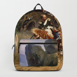 Classical Masterpiece Italian Brigands Surprised by Papal Troops by Horace Vernet Backpack